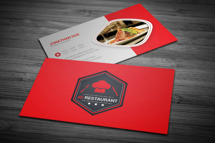 simple-restaurant-name-card-template
