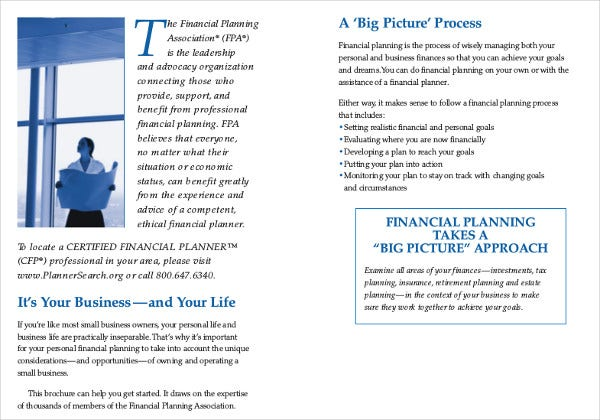 small business personal financial plan