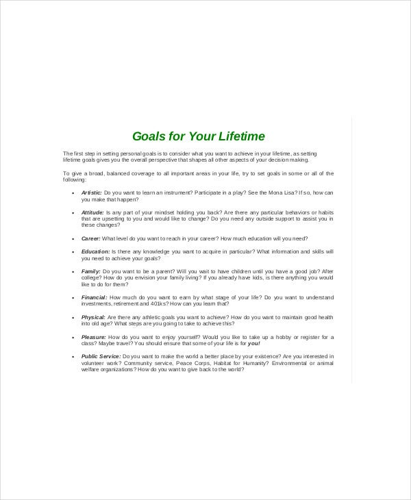 Smart Goal Setting Template