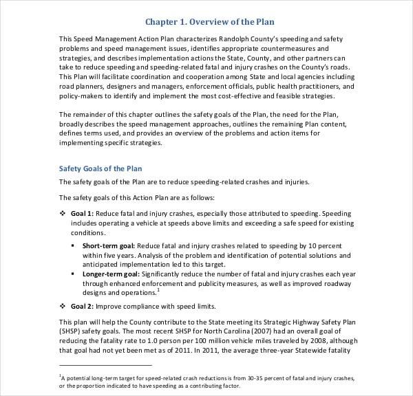 speed management action plan