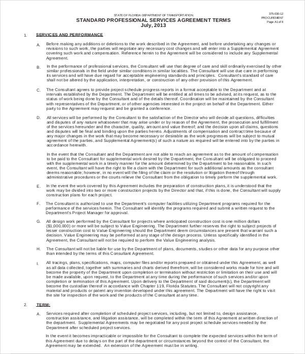 14  Professional Services Agreement Templates