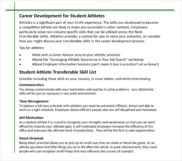 8+ Athletic Director Resume Templates - PDF, DOC | Free & Premium ...