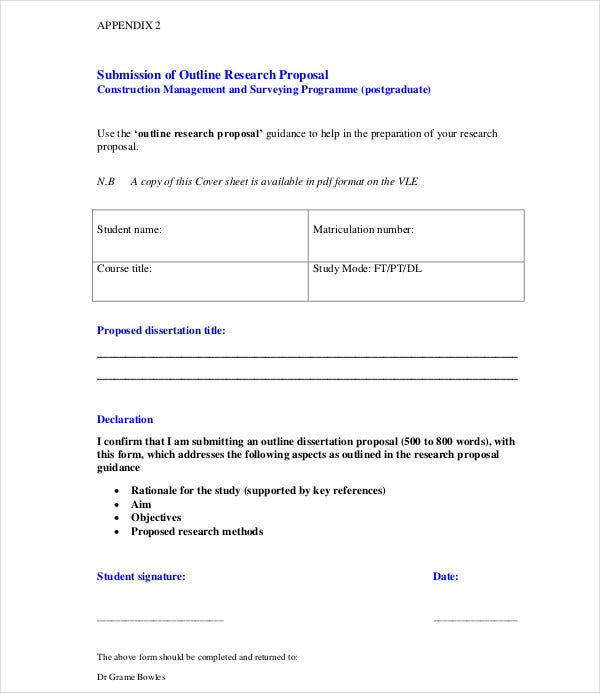 submission research proposal template