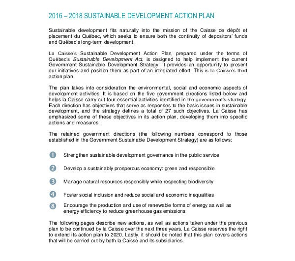 sustainable development action plan