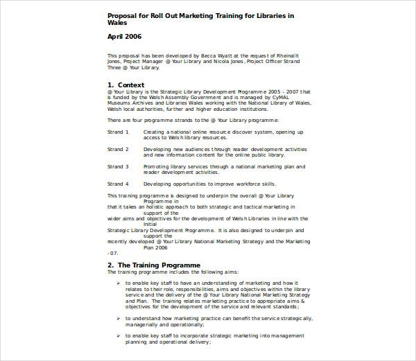 tactical marketing plan praposal