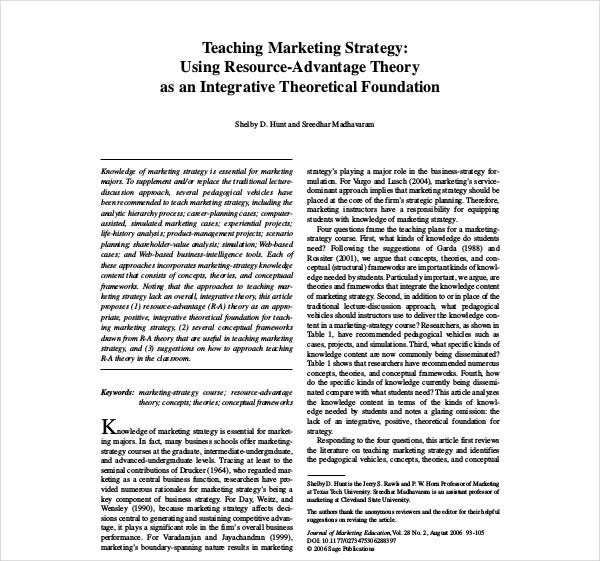 teaching marketing strategy