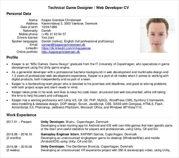developer cv thevillas co