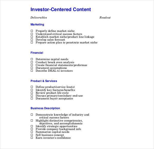 technology business plan template