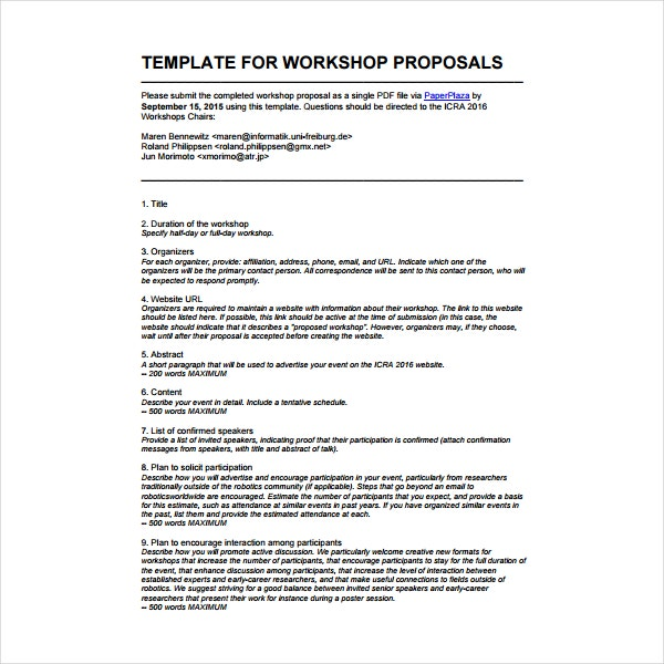 how to write a workshop proposal