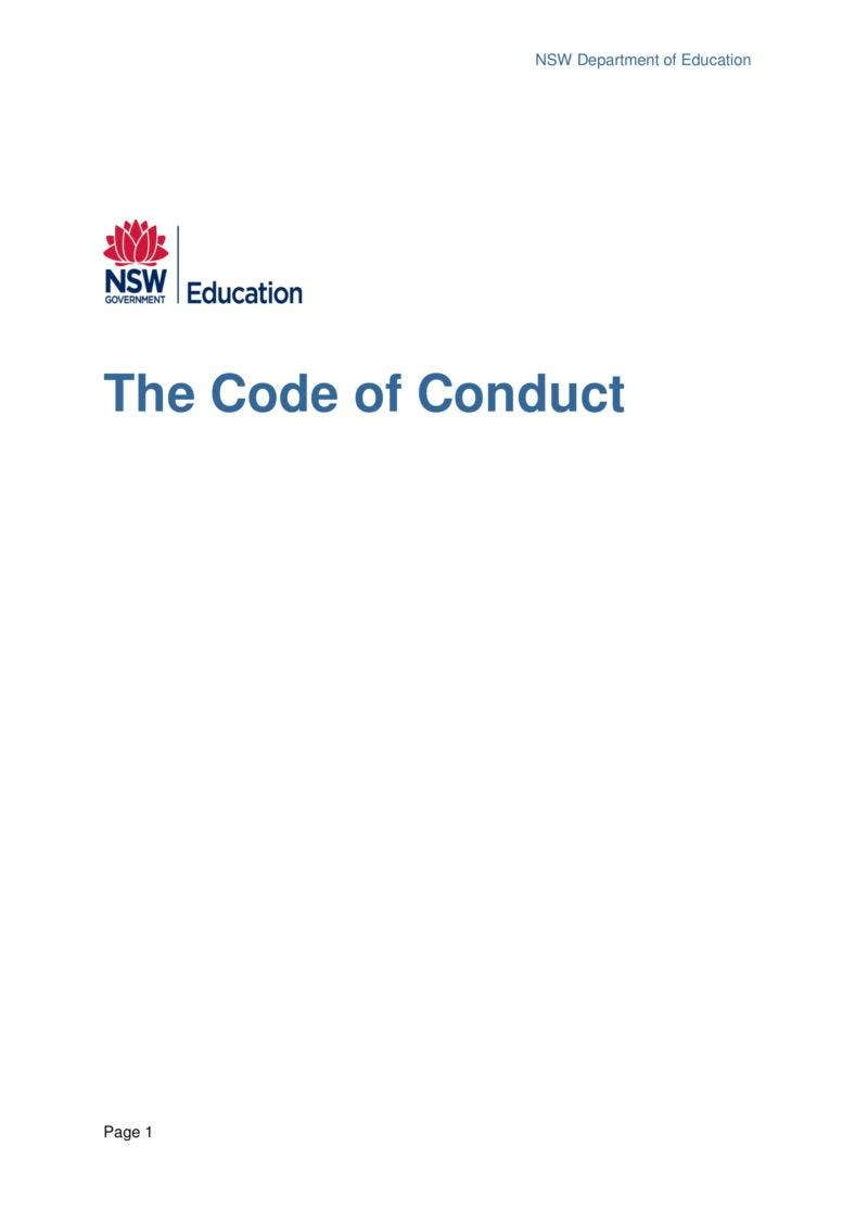 the 2014 code of conduct approved by minister 1 july 2014 updated dec 2016 not tracked7 01 788x1114
