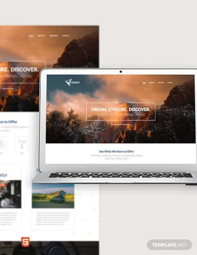 tours travels bootstrap landing page template