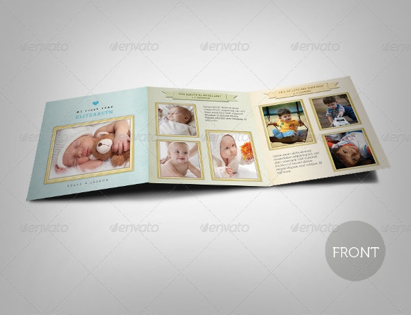 Tri-fold Birth Announcement Card