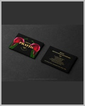 two-black-horizontal-business-card
