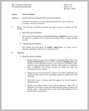 university-leave-of-absence-policy-template
