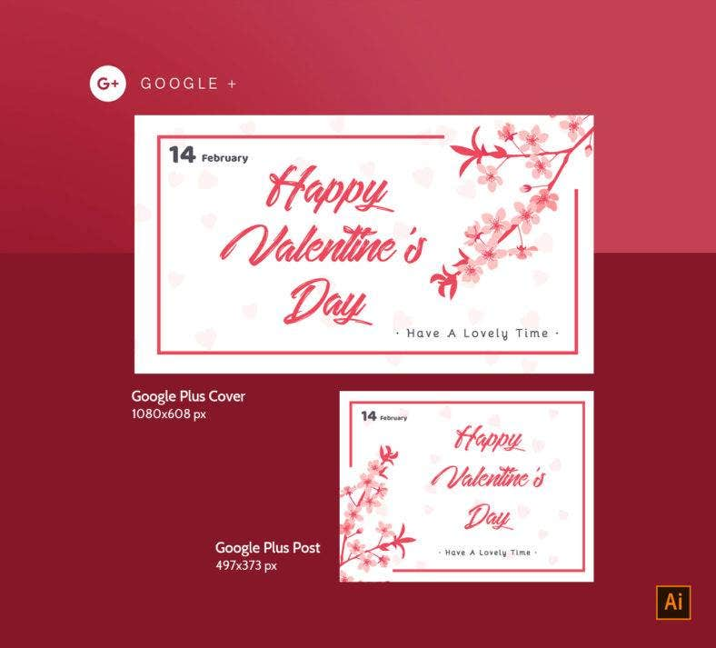 Valentines Day Google Plus Design