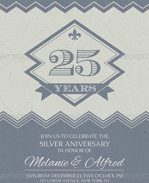 Vintage Style Wedding Anniversary Cards