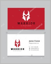 warrior-business-card