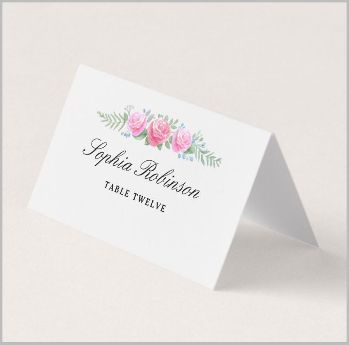 9  restaurant place card designs  u0026 templates