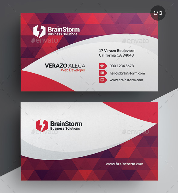 Web Developer Business Card Template