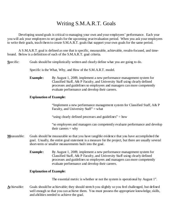 writing smart goals