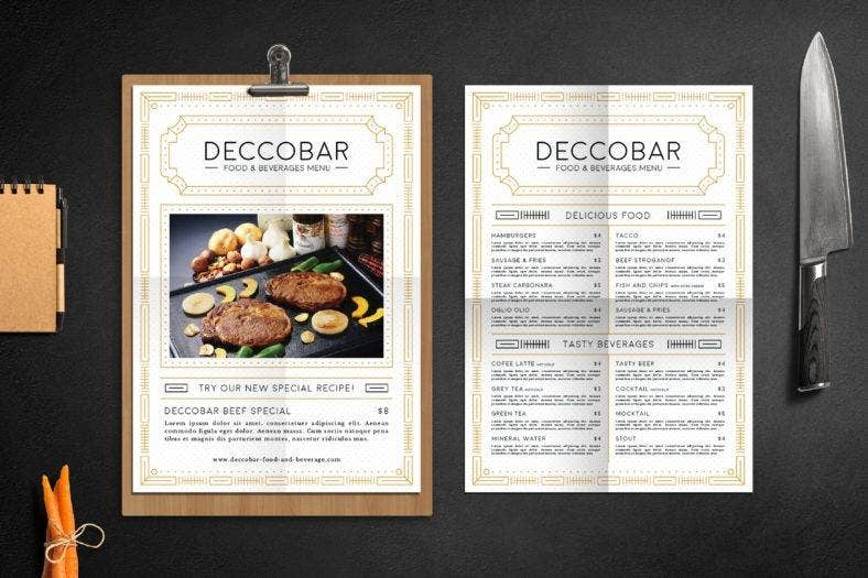 art-deco-food-and-drink-menu