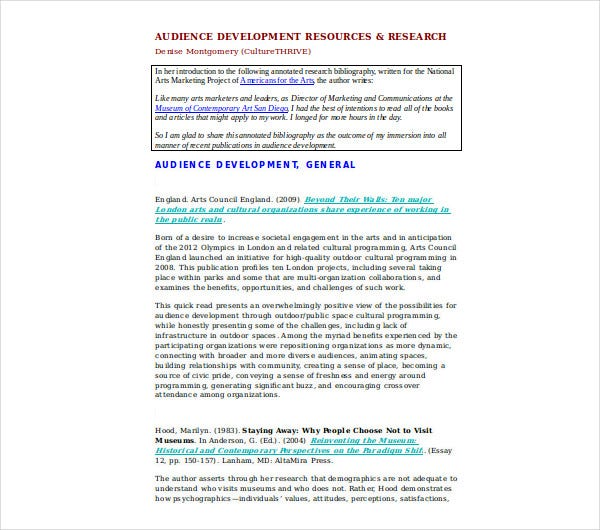 audience development resources research