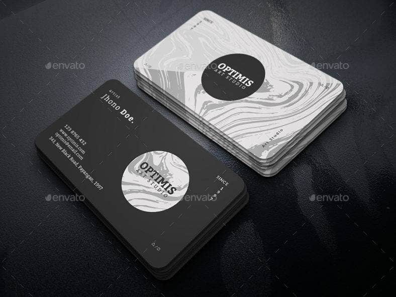 black-and-white-painter-business-card
