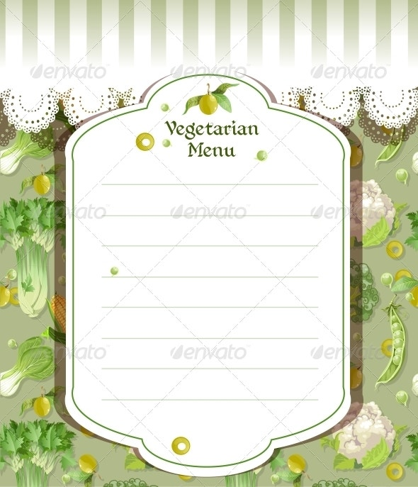 blank vegetarian menu