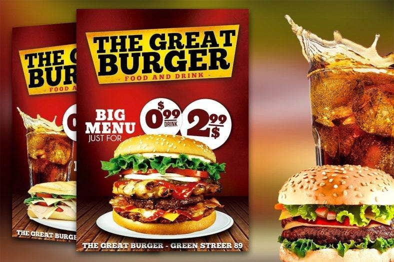 burger fast food flyer 788x524