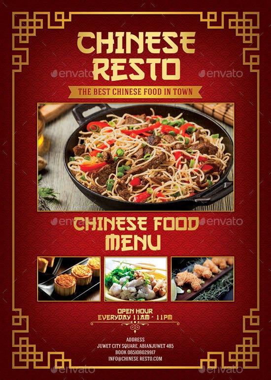 14 chinese menu designs templates psd ai free premium