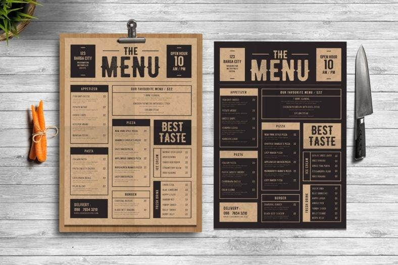 classic-food-and-drink-menu