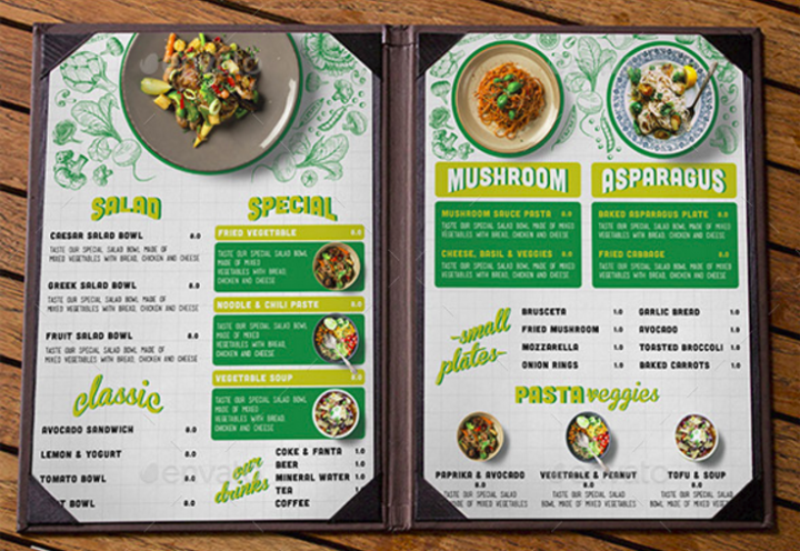 clean-vegetarian-menu
