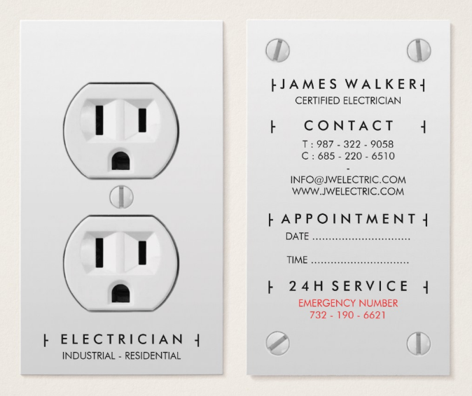 creative electrician business card template - Electrician Business Cards