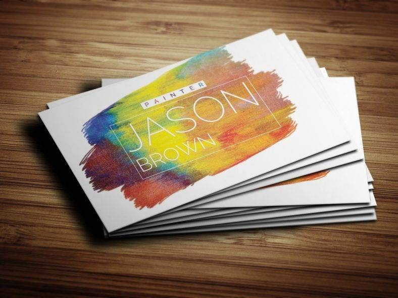 14 painter business card designs templates psd ai indesign creative painter business card friedricerecipe