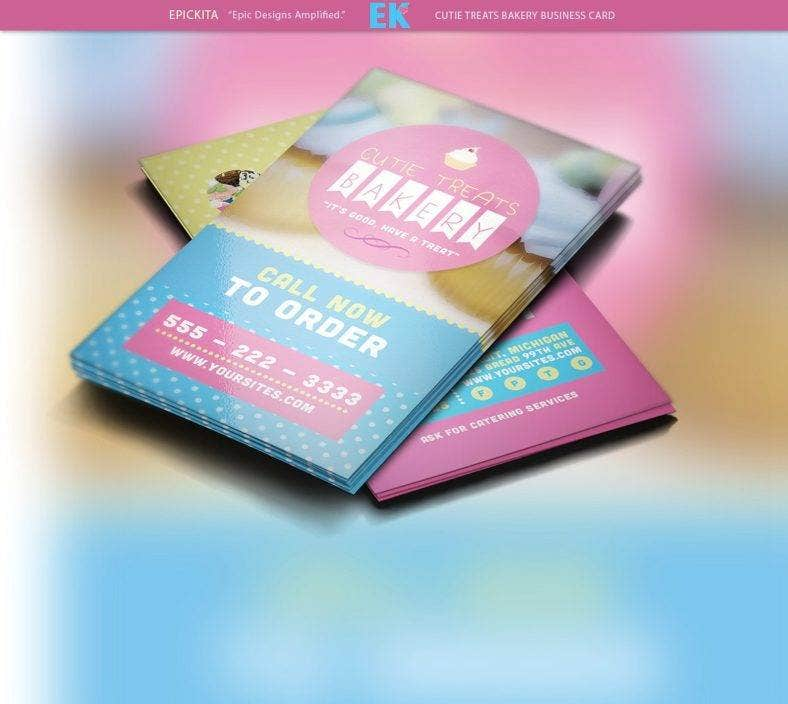 17 catering business card designs templates psd ai indesign bakery catering business card template reheart Choice Image