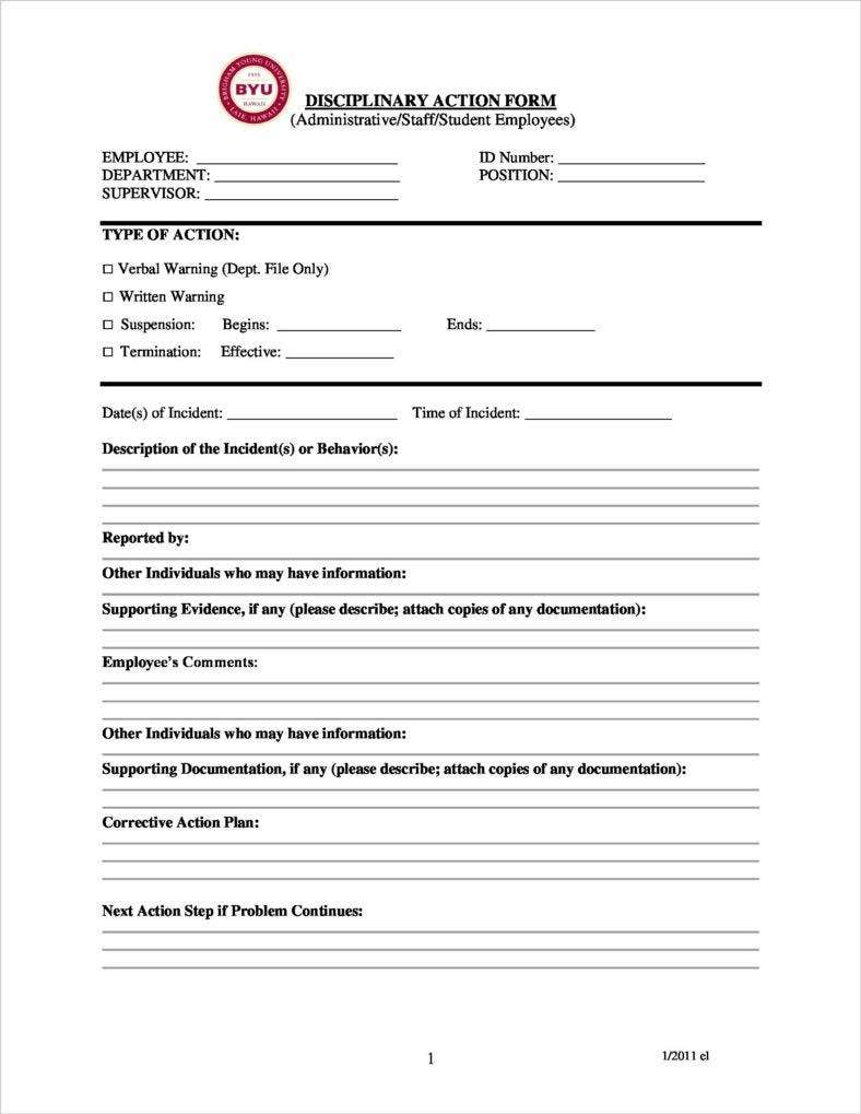 3  disciplinary report templates