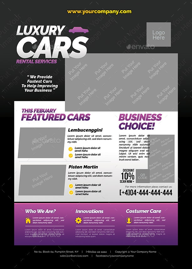 elegant-car-rental-flyer