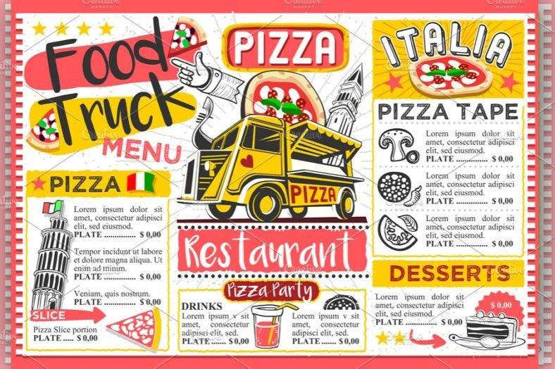 fast-food-truck-menu