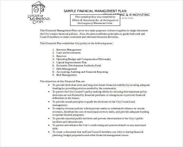 financial management plan1
