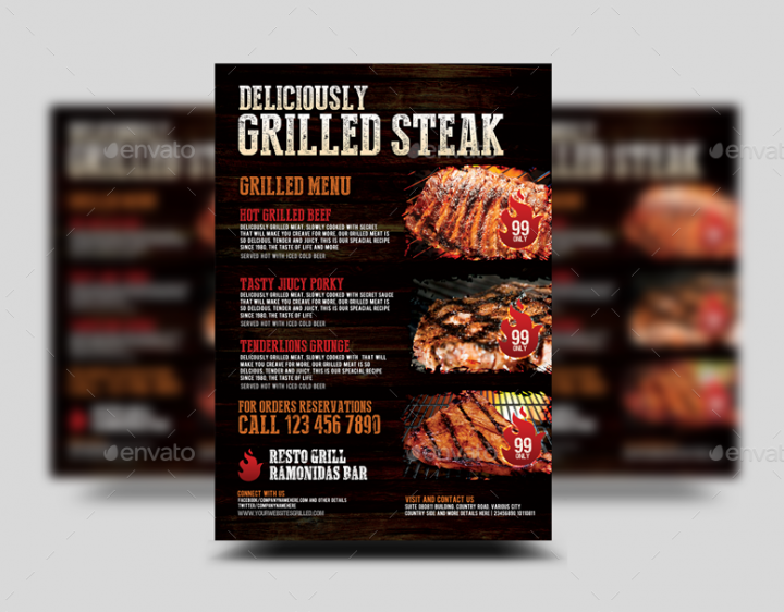 grilled-steak-food-flyer