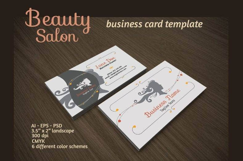 hair stylist and beauty salon business card 788x524