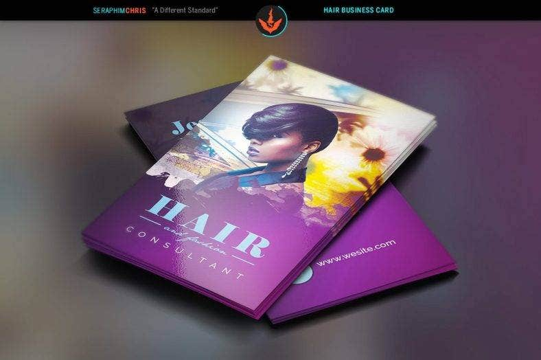 14 hair stylist business card designs templates psd for Hair stylist business card designs
