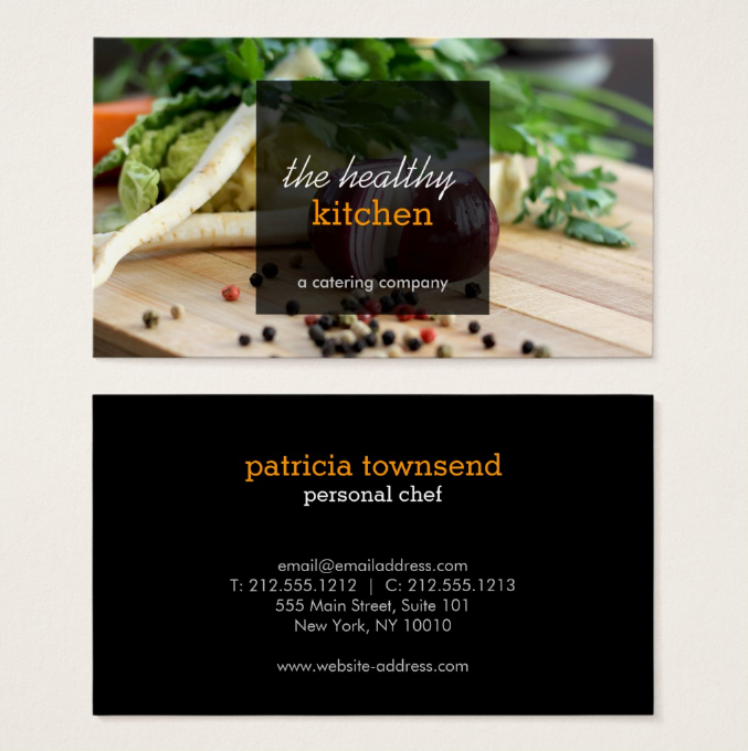 17 catering business card designs templates psd ai indesign healthy kitchen catering business card template wajeb Choice Image