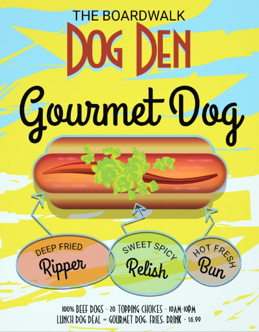 hot dog food flyer