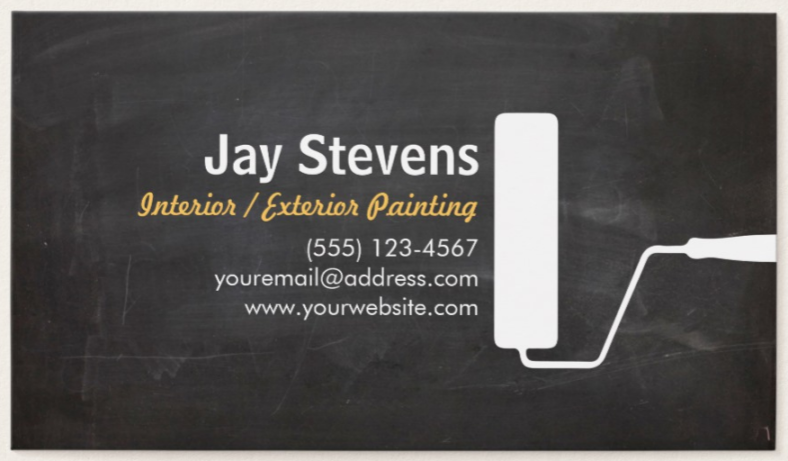 house painter business card - Painting Business Cards