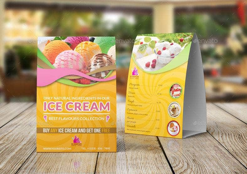 ice cream table tent card 788x555