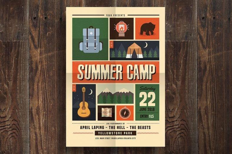 indie-summer-camp-adventure-flyer