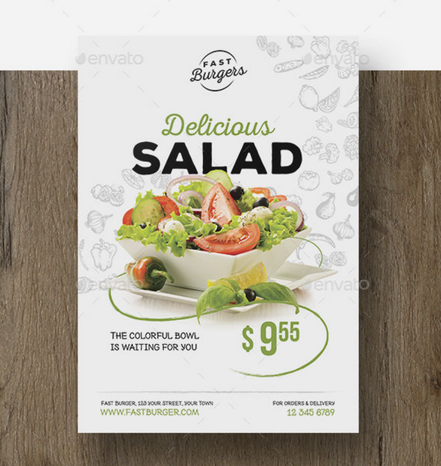 minimalistic food flyer
