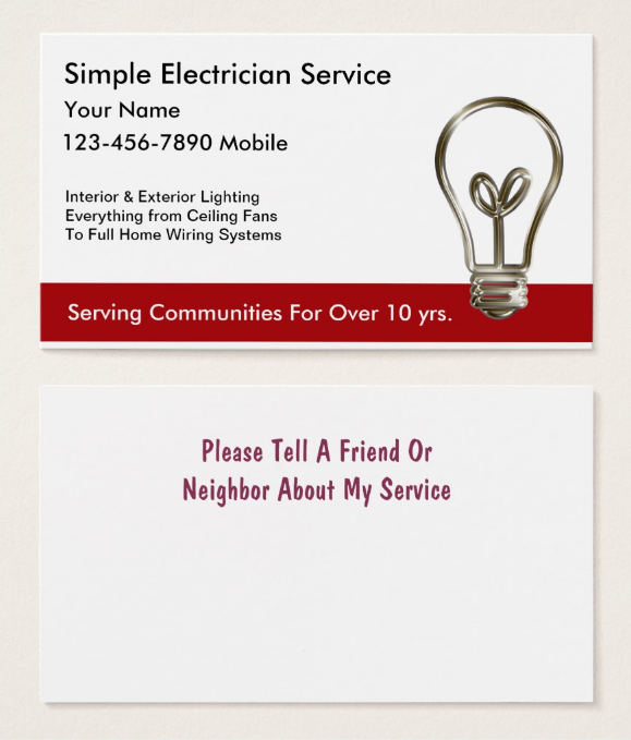 neat-electrician-business-card