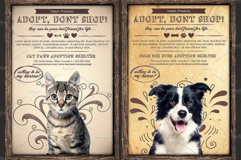 pet adoption flyer 788x524